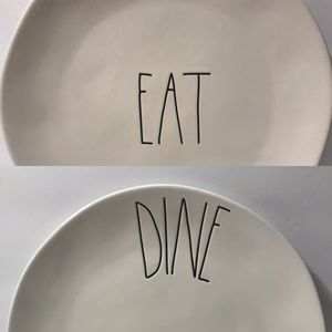 Rae Dunn Dinner Plate Set | EAT & DINE | 2 Plates